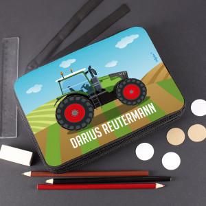 personalisierte Traktor-Federmappe