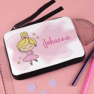 personalisierte Ballerina-Federmappe